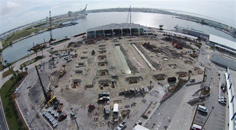 Port Canaveral Car Parking by Work Continues On Port Canaveral S New Cruise Terminal 5