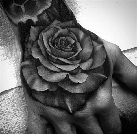 100 Amazing Tattoos For Guys Masculine Design Ideas Realistic Black And Grey Flower Tattoos