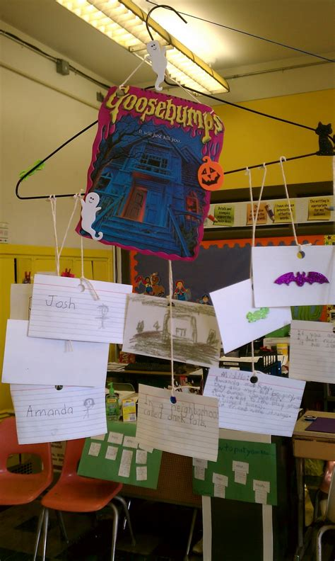 book report mobile goosebumps