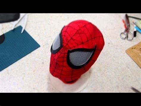 sewing pattern spiderman mask 49 how to make spiderman mask part 1 fabric no sewing