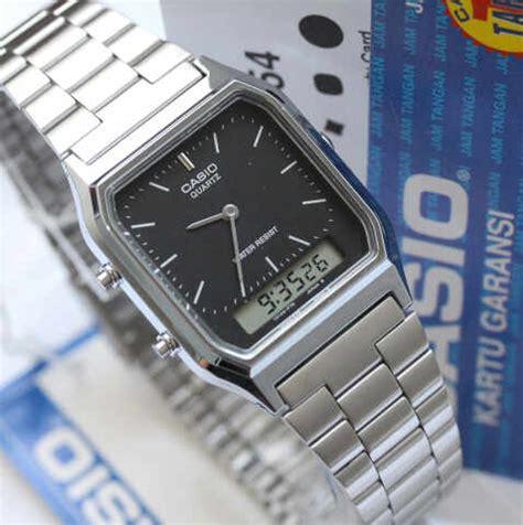 Jam Tangan Pria Casio Aq 230 jam tangan casio original aq 230 warna silver