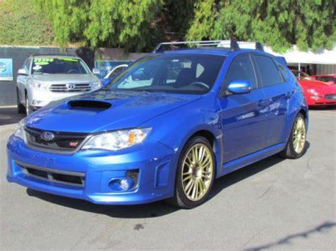blue subaru hatchback purchase used 2012 subaru impreza wrx sti 6 speed