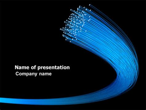 optical fibre network powerpoint template backgrounds