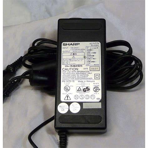 Tv Sharp Semarang adaptor sharp 18v 2 6a black jakartanotebook