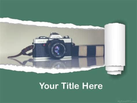 photography camera ppt design download free daily powerpoint templates camera theme image collections