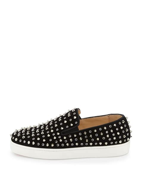 christian louboutin roller flat skate shoe with spikes