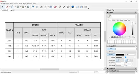 sketchup layout table adding tables to a document sketchup knowledge base