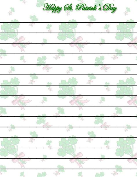 st patricks day writing paper 108 best images about st s day stationery on