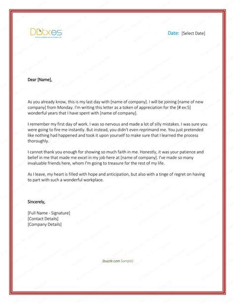 un appreciation letter 25 einzigartige farewell letter to ideen auf