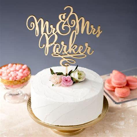 Gold Mr Mrs Cake Topper   Custom Cake Topper for Wedding