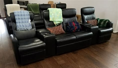 review flash furniture  seat black leather home theater