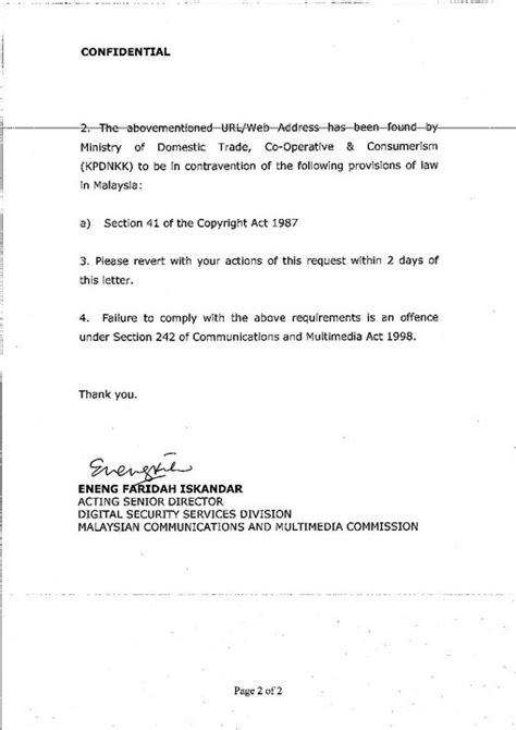 Request Letter Quotation Sle Skmm Meminta Penyedia Menghalang Akses Ke 10 Laman Perkongsian Popular Amanz