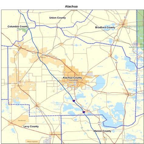 alachua county alachua county map images