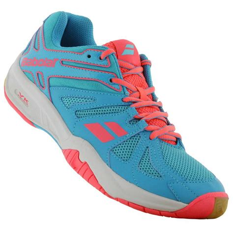 babolat shoes babolat womens shadow team badminton shoes blue pink