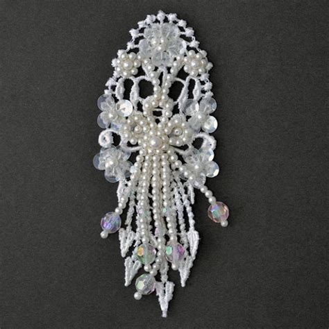 beaded appliques pearl beaded sequin applique bridal applique by pc tr 11080