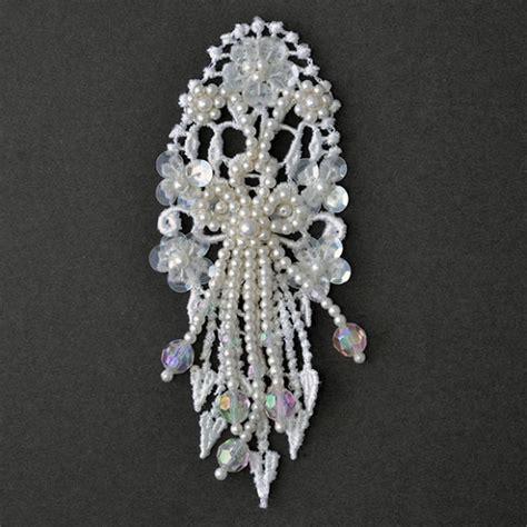beaded applique pearl beaded sequin applique bridal applique by pc tr 11080