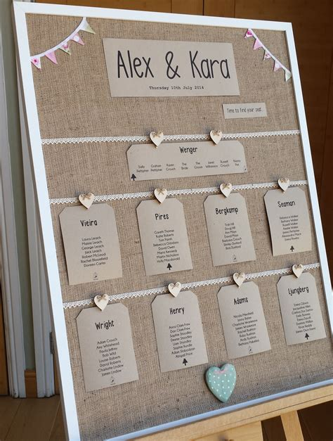 alternative table plan ideas wasing park - Wedding Plans And Ideas