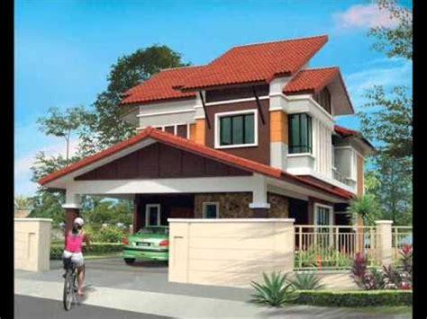 pelan rumah banglo setingkat pelan rumah banglo 2 tingkat modern baiti jannati