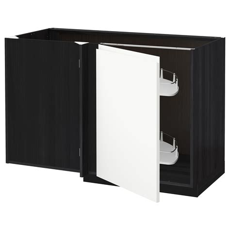 Corner Base Cabinet Pull Out by Metod Corner Base Cab W Pull Out Fitting Black Voxtorp