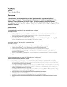 senior accountant resume exle