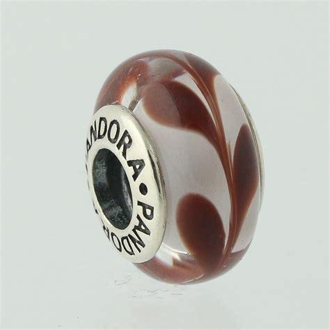 new pandora bead charm sterling murano glass 790669 auburn
