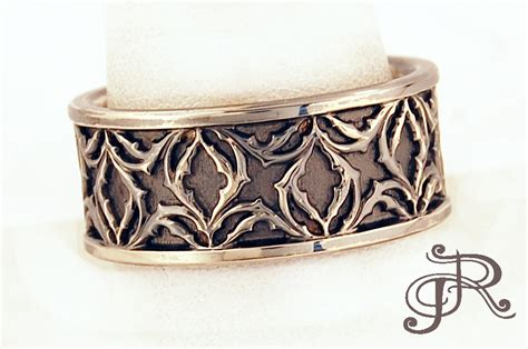 Men's Medieval Wedding Band   Rosestone Jewelry