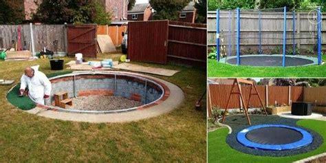 cool backyard stuff in ground troline great garden ideas pinterest