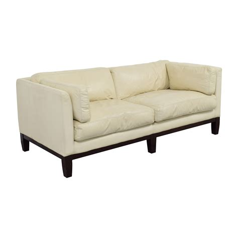white leather loveseats 72 off decoro decoro off white leather sofa sofas