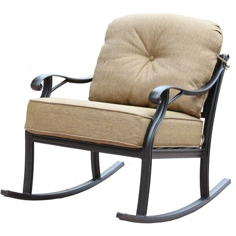 aluminum rocking chair darlee nassau 3 cast aluminum patio conversation