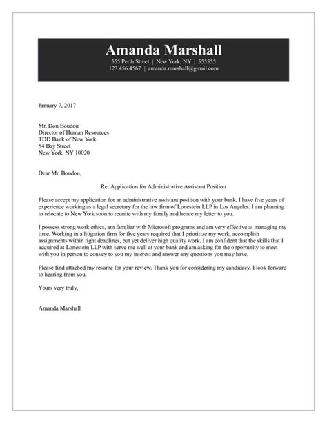 writing a cover letter for an administrative assistant position administrative assistant cover letter