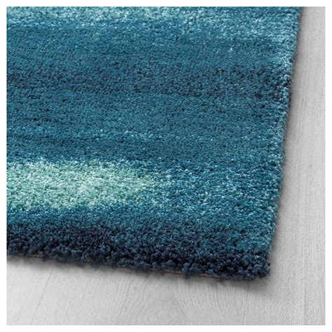 blue and rug s 214 nder 214 d rug high pile blue 170x240 cm ikea