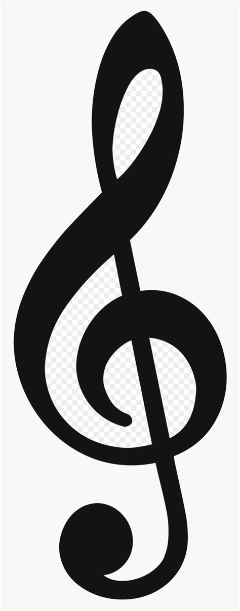 Note Clipart Sol Music Notes Hd X Transparent Png - Treble