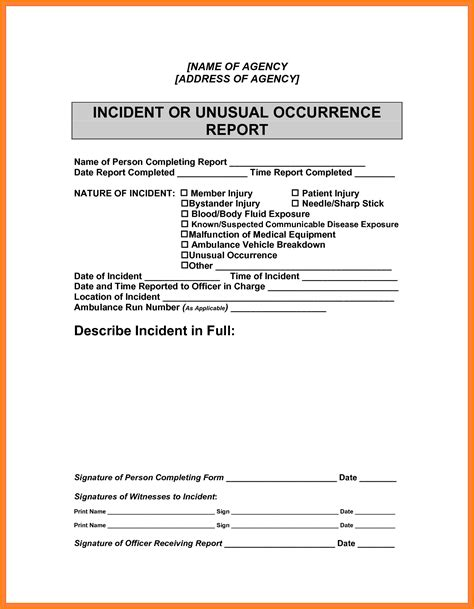 Incident Report Request Letter sle report writing template