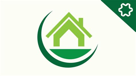 house logo designs how to make green eco home house logo design in adobe