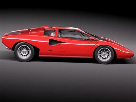 1973 Lamborghini Countach Lamborghini Countach Lp400 1973 3d Model 3d Model Max