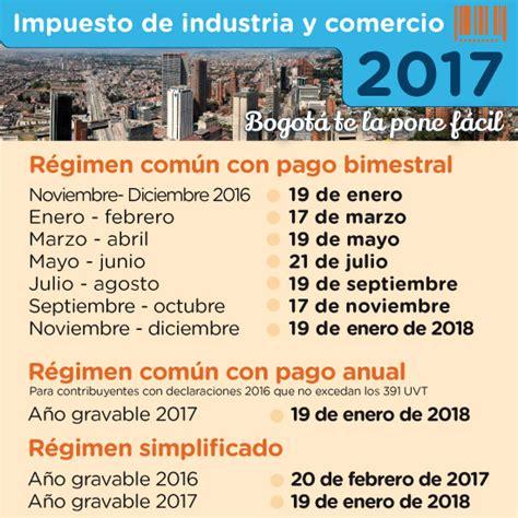 calendario impuesto industria y comercio bucaramanga 2016 industria y comercio secretar 237 a de hacienda distrital