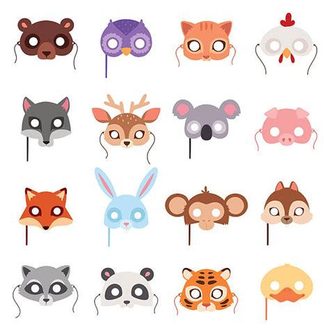 animal masks clipart collection