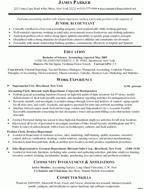accounting clerk resume invitation sle pinterest