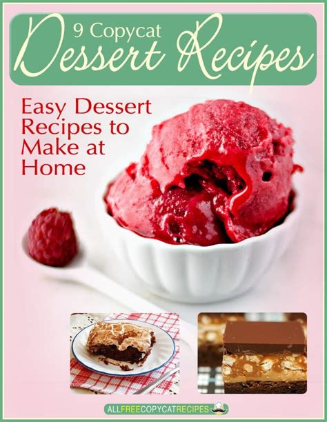Easy Recipes To Make At Home free ecookbook 9 copycat dessert recipes easy dessert