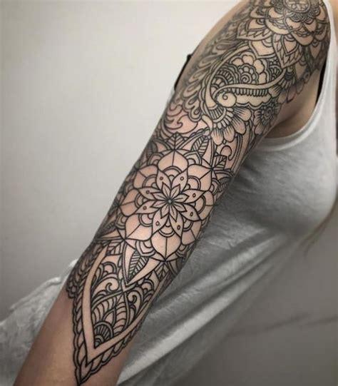 sleeve tattoo hashtags laura jade henna inspired line work sleeve tattoos