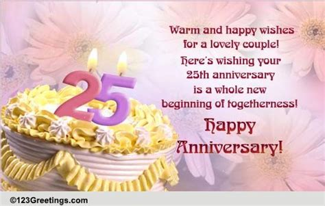 Marriage Anniversary Image For Chacha And Chachi by 25th Happy Anniversary With Warm Wishes For A Lovely