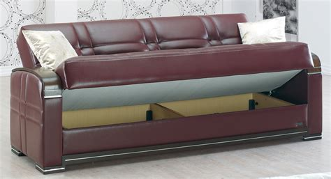 Leather Sectional Sofa Bed Manhattan Burgundy Leather Sofa Bed By Empire Furniture Usa