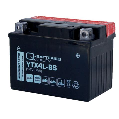 Motorradbatterie 12v 3ah by Q Batteries Motorrad Batterie Ytx4l Bs Agm 12v 3ah 60a