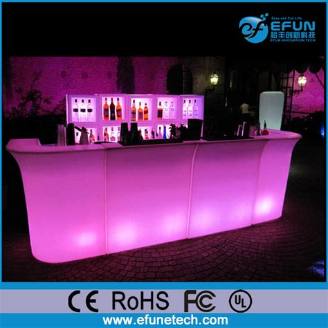 light up bar top party illuminated led light up bar tablerechargeable
