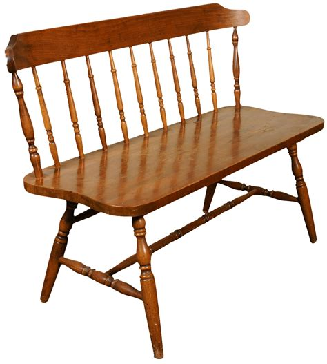 windsor benches american colonial style windsor bench chairish