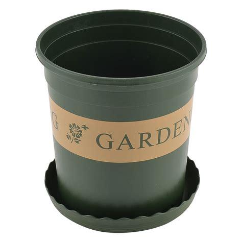 plastic cylinder shape flowerpot plant planter container