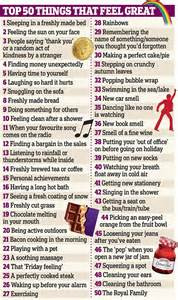 the daily promise 100 ways to feel happy about your books poll reveals the list of 50 things that make us feel great
