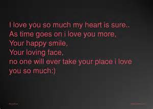 i love you so much my heart is sure as time goes on i