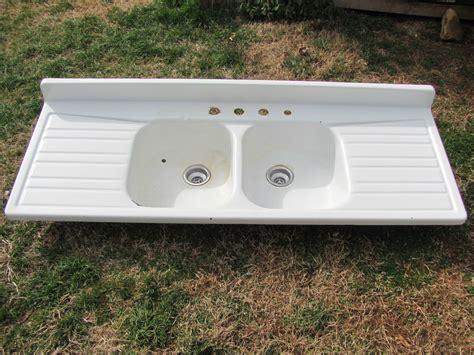 porcelain sink with drainboard antique enamel porcelain farm house sink drainboard