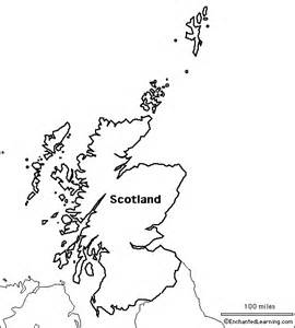 Scottish Outline by Outline Map Scotland Enchantedlearning